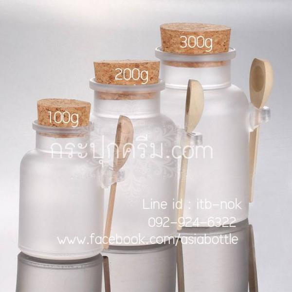กระปุกพลาสติก : กระปุกสปาช้อนไม้ 100g 200g 300g